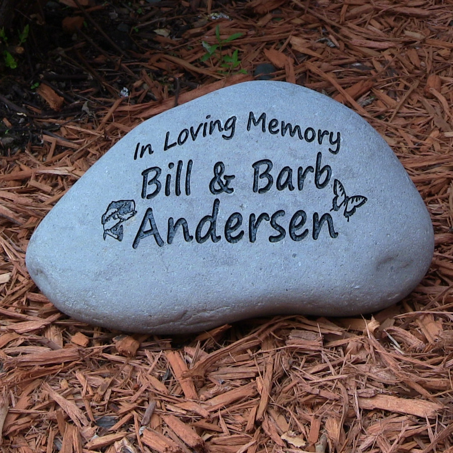 custom engraved large garden stone 9 11 wide. Black Bedroom Furniture Sets. Home Design Ideas