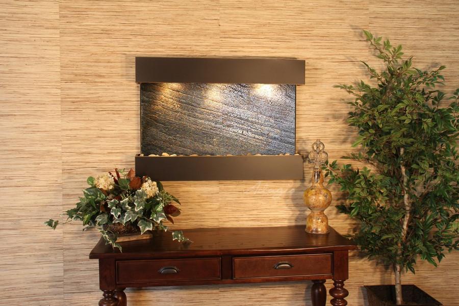 Blackened Copper & Green Featherstone Slate