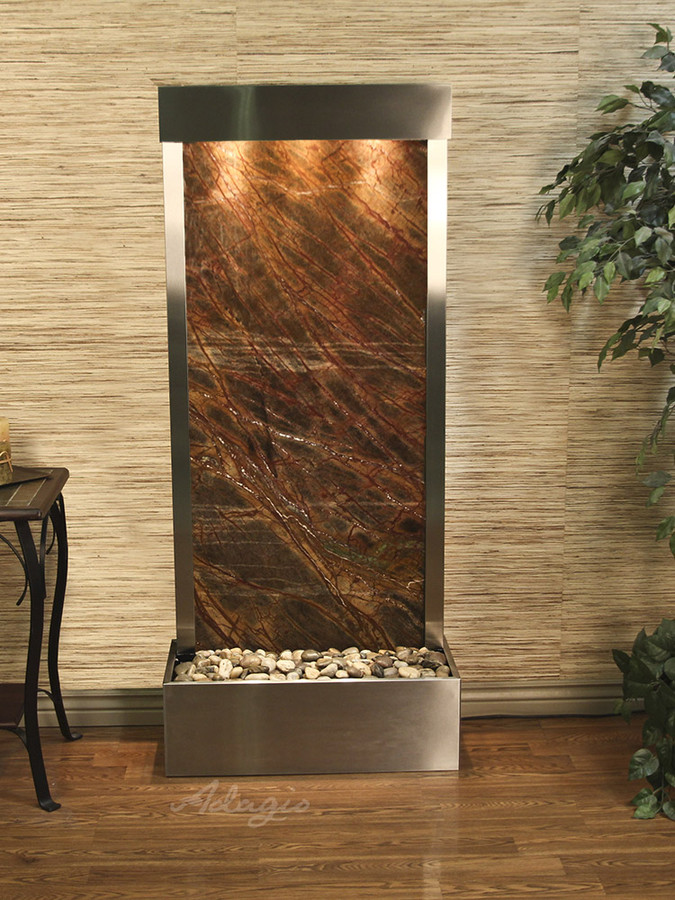 Rainforest Brown Marble & Stainless Steel