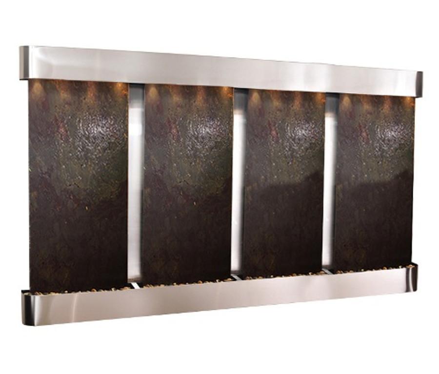 Stainless Steel w/ Rajah Featherstone Slate