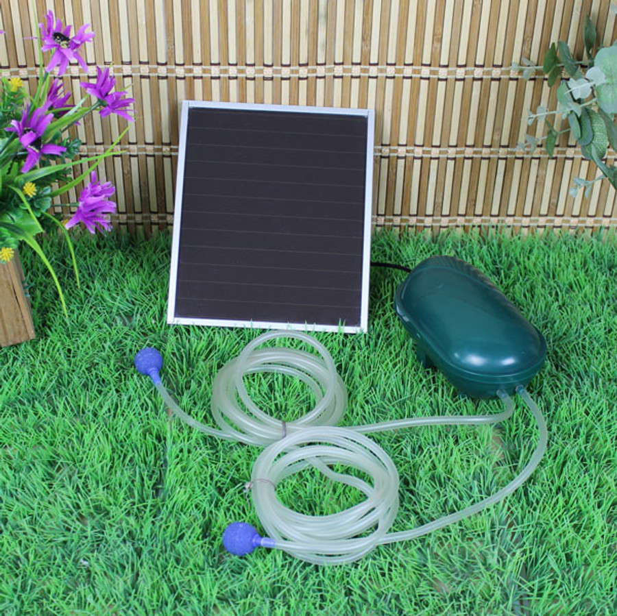 Sunnydaze Air Pump Solar Oxygenator Plus With Battery Pack, 52 GPH