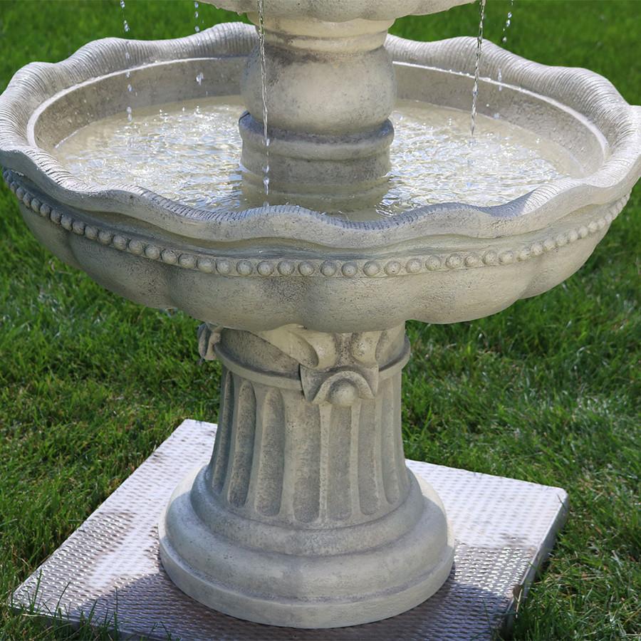 Tiered Contemporary Urban Garden: Sunnydaze Three-Tier Outdoor Pineapple Garden Fountain
