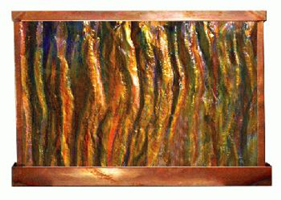 Sky's on Fire Wall Fountain- Horizontal