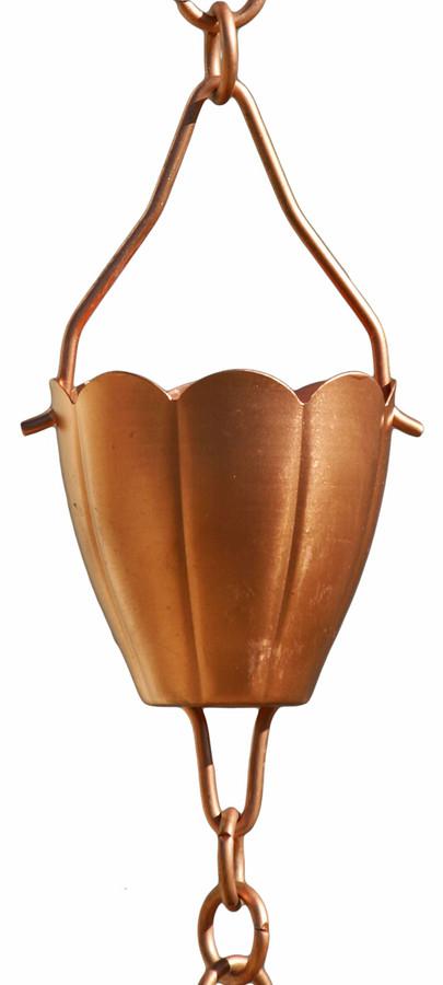 Copper Flower Cup Rain Chain