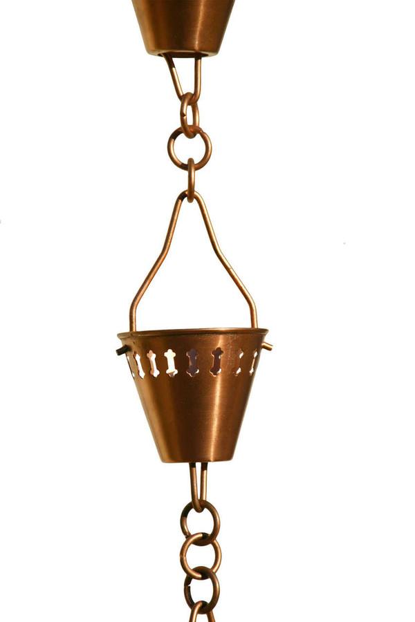 Copper Shade Cup Rain Chain