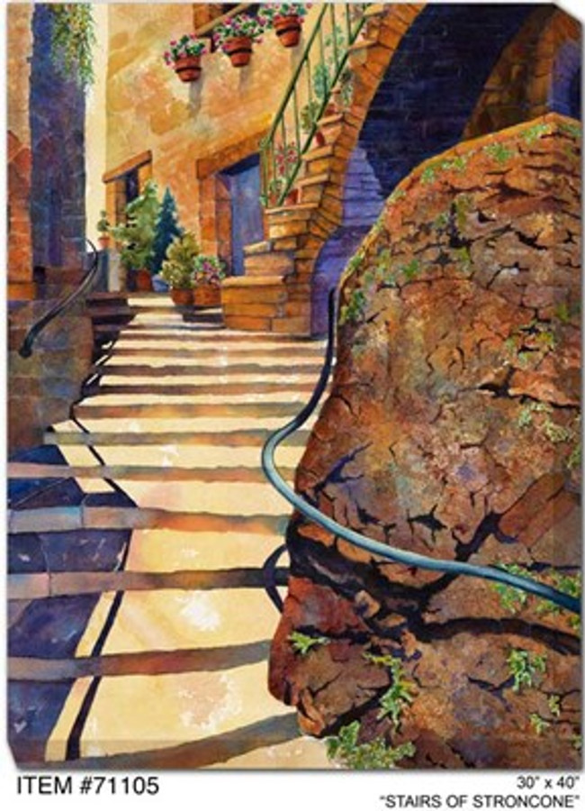 Stairs of Stroncone Canvas Wall Art