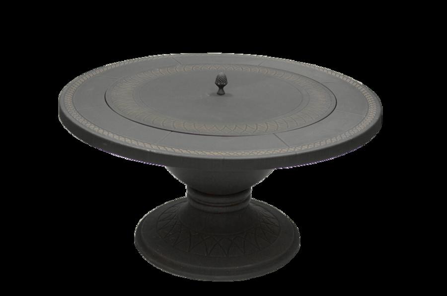 Dagan Bronze Outdoor Fire Pit Table, 42 Inch Diameter