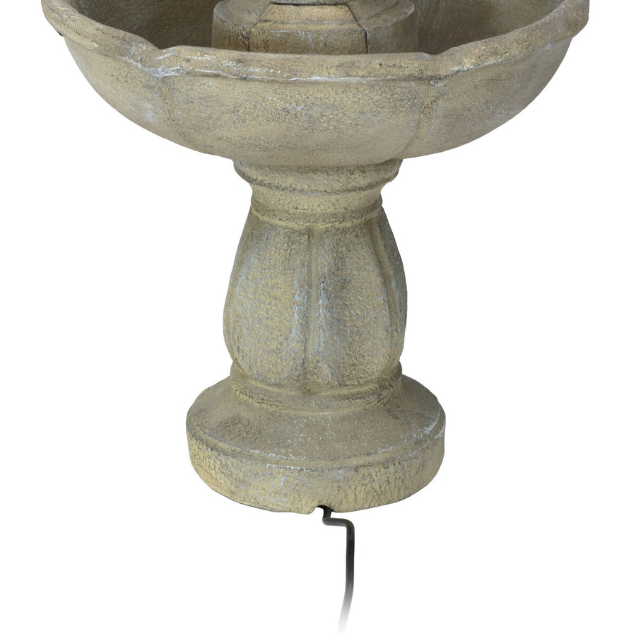 Sunnydaze Birds' Delight Outdoor Water Fountain, Includes Electric Submersible Pump, 35 Inch Tall