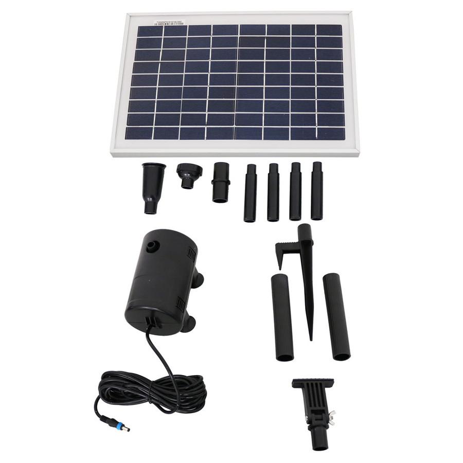 Sunnydaze Solar Pump and Solar Panel Kit With 2 Spray Heads, 200 GPH, 80-Inch Lift