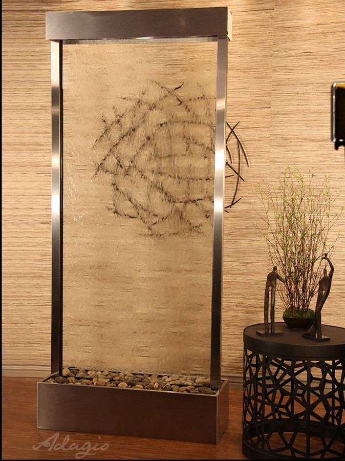Stainless Steel and Clear Glass