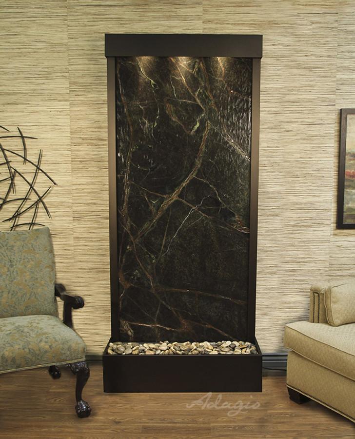 Antique Bronze & Rainforest Green Marble