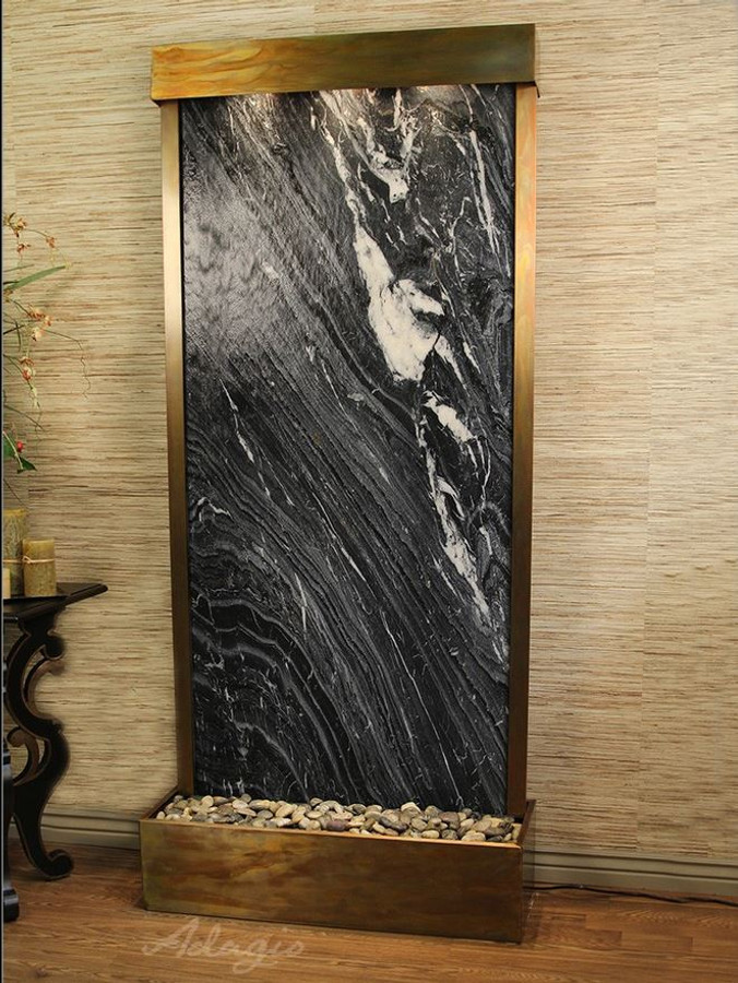 Rustic Copper & Black Spider Marble