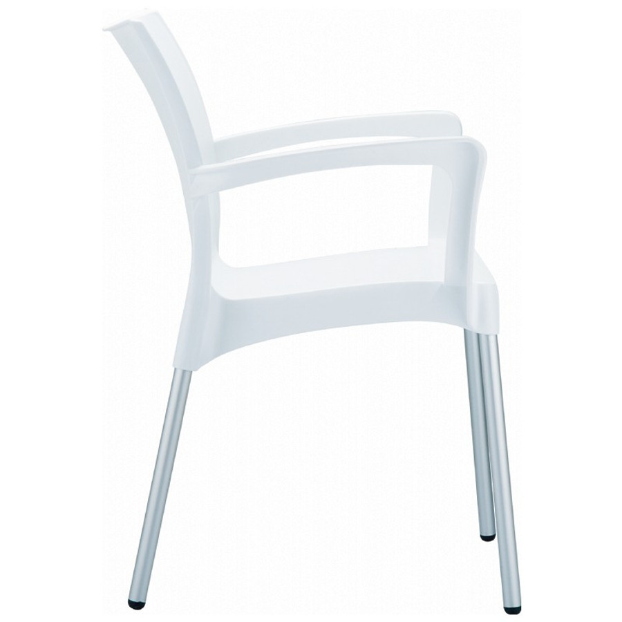 Dolce Stacking Dining Arm Chair (Set of 4)