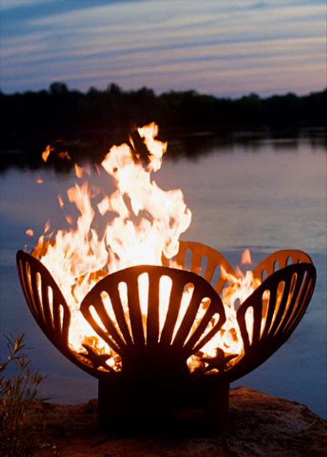 Barefoot Beach Firepit by Fire Pit Art