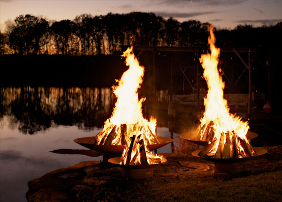 Asia Wood Burning Fire Pit by Fire Pit Art