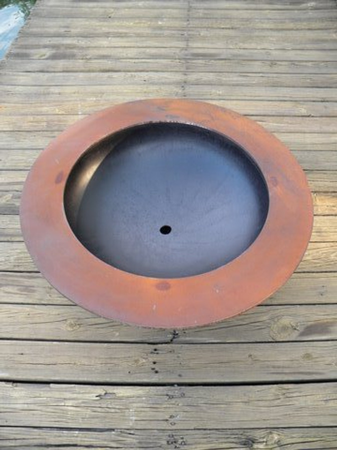 Saturn Wood Burning Fire Pit by Fire Pit Art