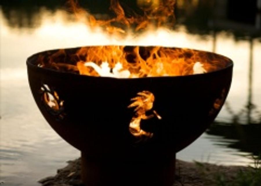 Kokopelli Gas Fire Pit by Fire Pit Art
