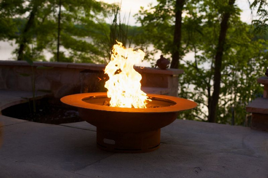 Saturn Gas Fire Pit by Fire Pit Art