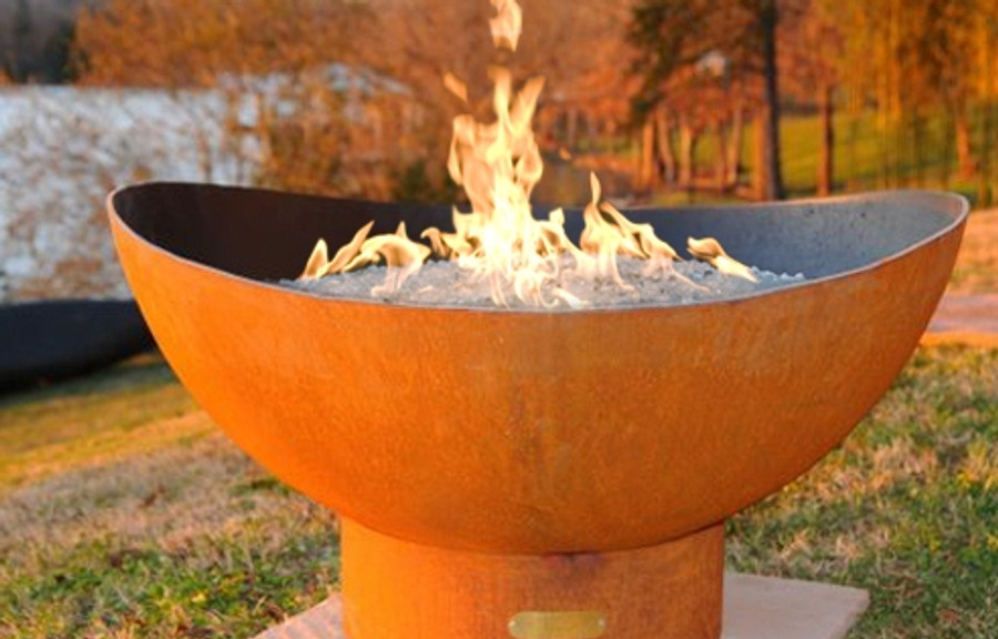 Scallop Gas Fire Pit by Fire Pit Art