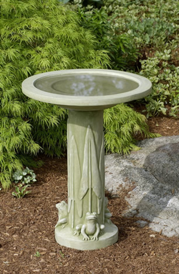 Three Frog Birdbath by Campania International