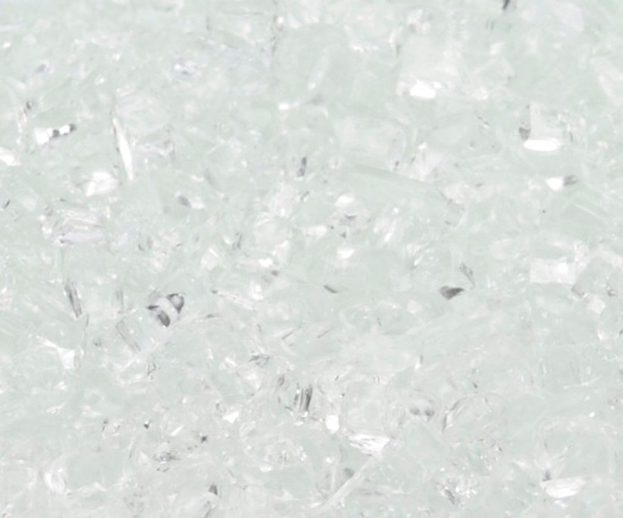 """1/4"""" Crushed Ice Fire Glass"""
