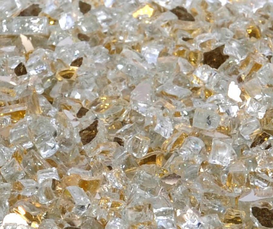 "1/4"" Casino Gold Metallic Fire Glass"