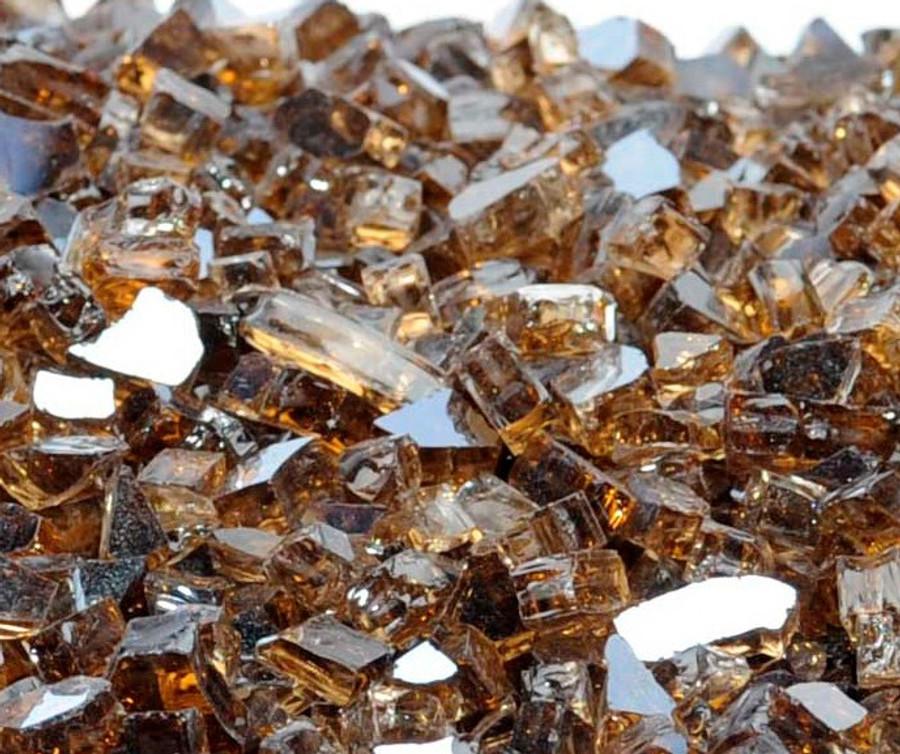 "1/4"" Copper Metallic Fire Glass"