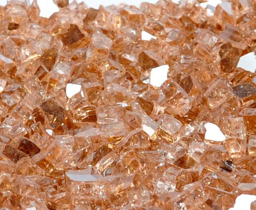 "1/4"" Copper Penny Metallic Fire Glass"