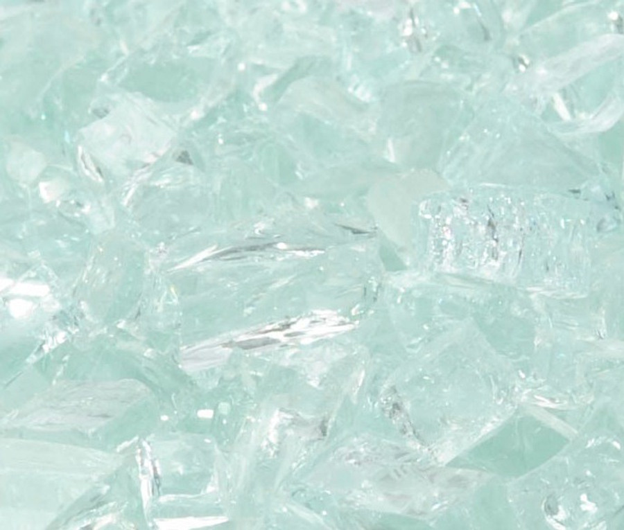 "1/2"" Icy Mint Fire Glass"