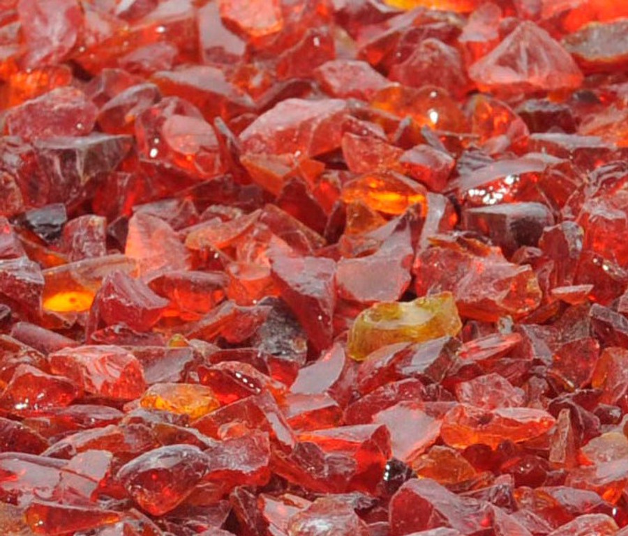 Passion Red Recycled Fire Glass