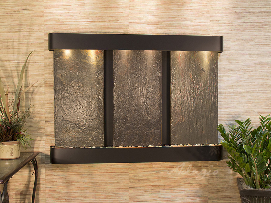 Blackened Copper & Rajah Slate with Rounded Corners