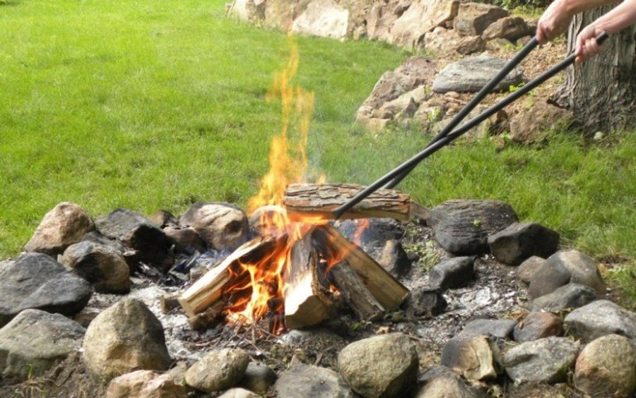 """40"""" Log Claw Grabber - Move Fire Wood Easily and Safely in Your Fire Pit or Fireplace"""