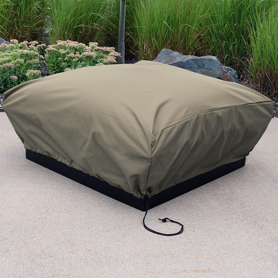 Sunnydaze Heavy Duty Square Fire Pit Cover, Color Options Available