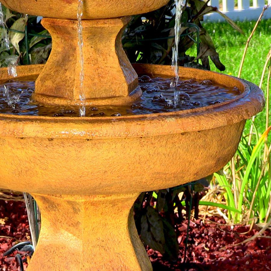 Sunnydaze Tropical 3-Tier Garden Water Fountain, 40 Inch Tall