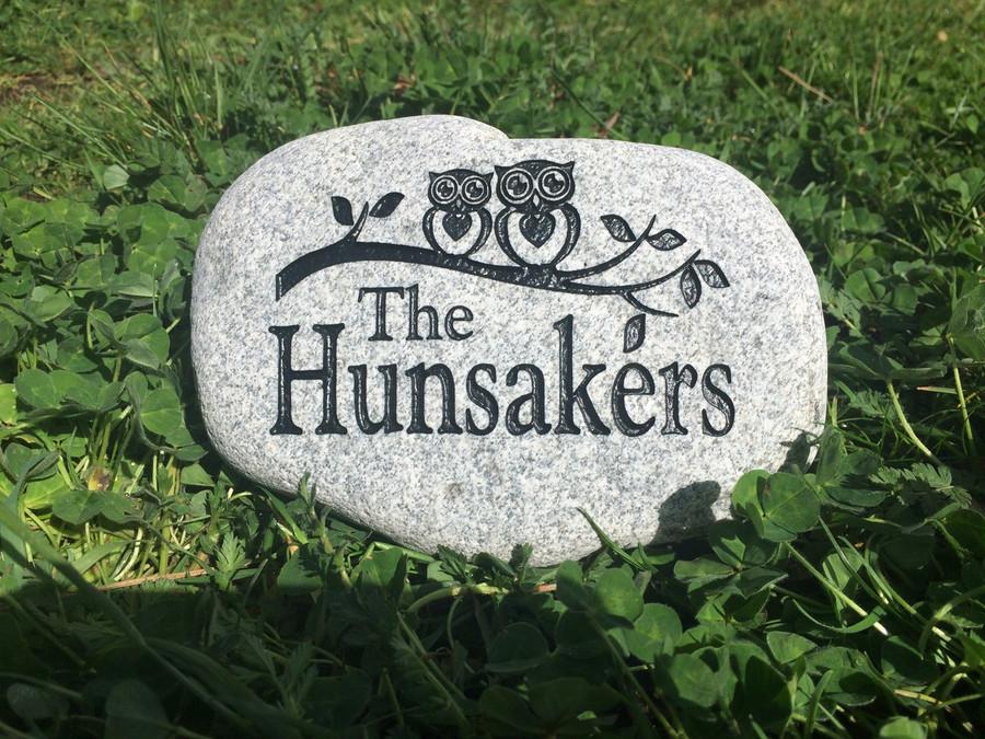 "Custom Engraved Small Garden Stone - 5-7"""