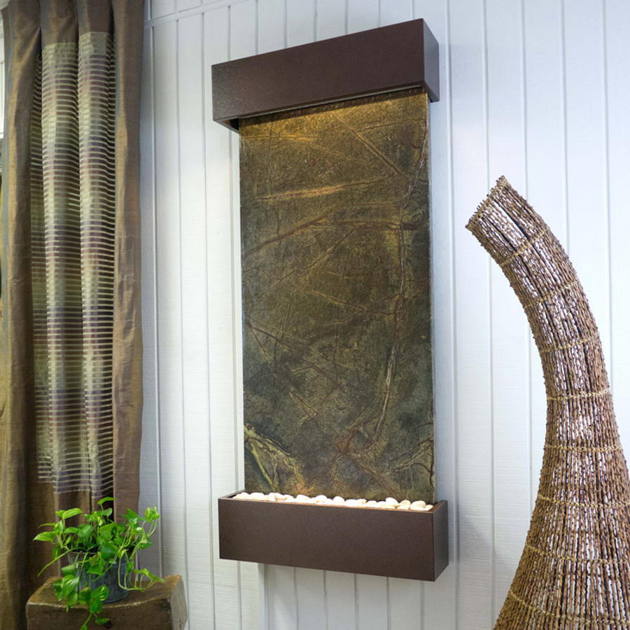 Green Marble with Copper Vein Frame