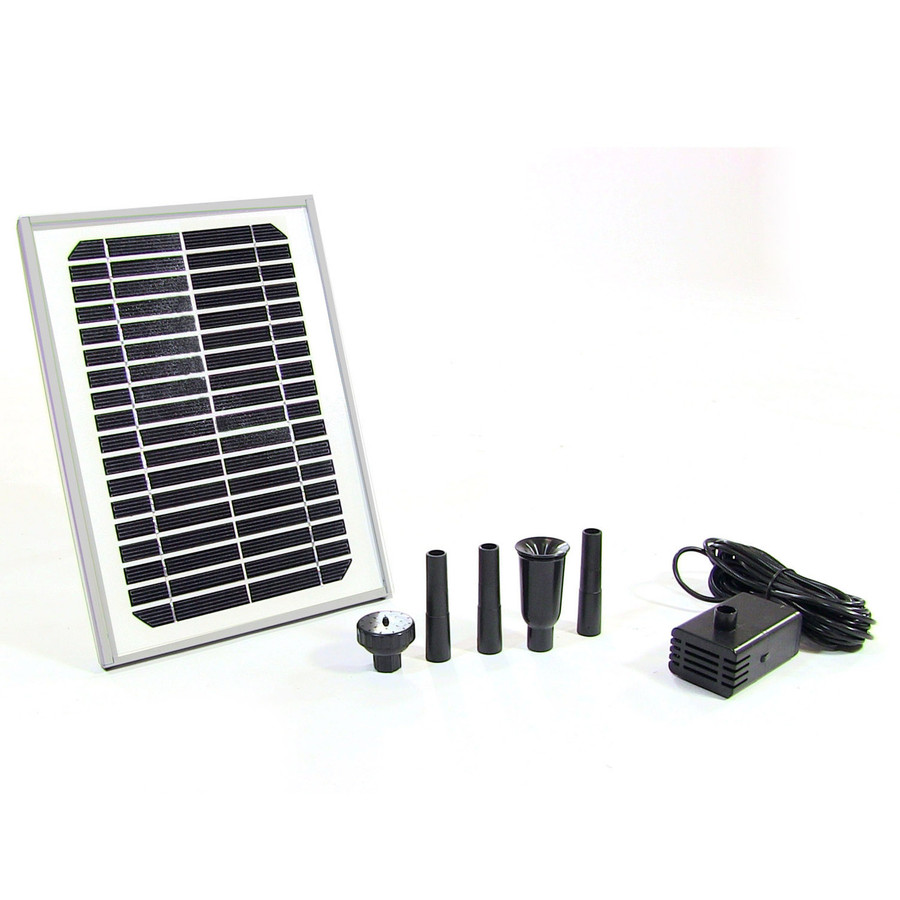 Sunnydaze Solar Pump and Solar Panel Kit with 2 Spray Heads, 125 GPH, 56-Inch Lift