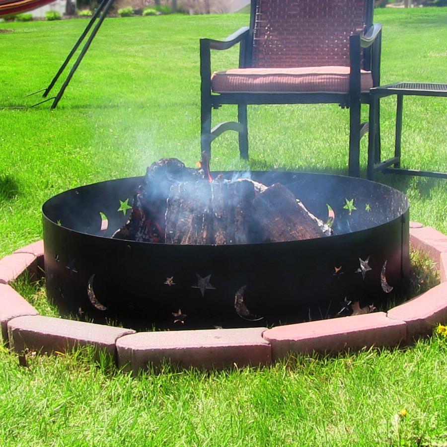 Sunnydaze Big Sky Campfire Ring, 36 Inch Diameter