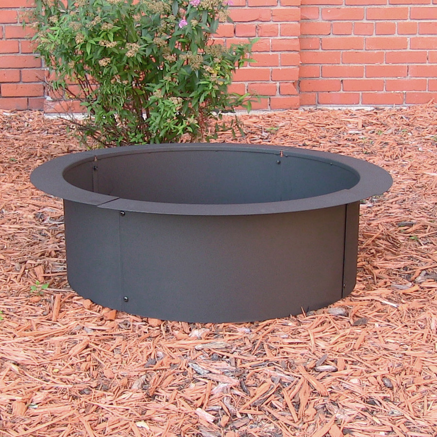 Sunnydaze Heavy Duty Fire Pit Ring/Liner, DIY Fire Pit Above or In-Ground, Steel