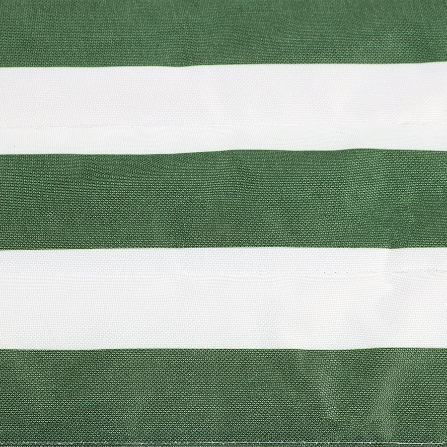 Green/White Stripe Rope Hammock and Stand Combo Swatch