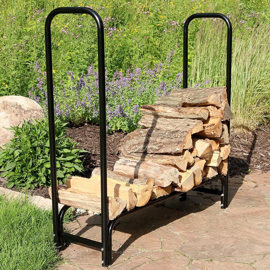Sunnydaze 4-Foot Firewood Log Rack