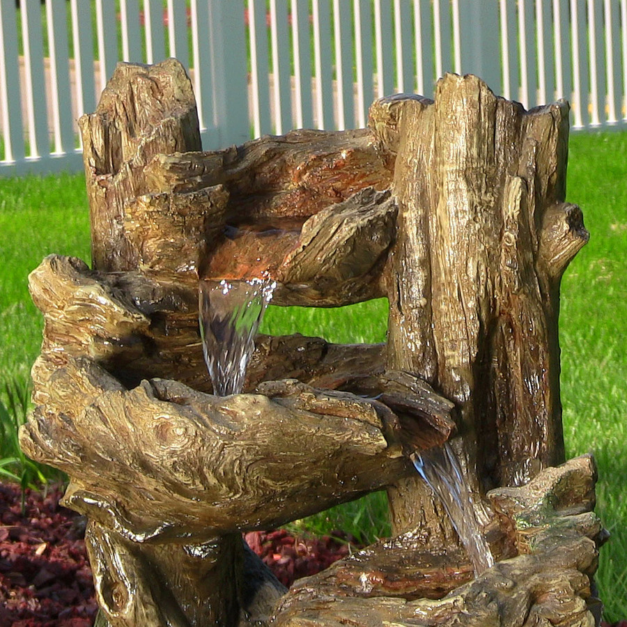 5-Tiered Woodland Fountain w/ LED Lights by Sunnydaze Decor