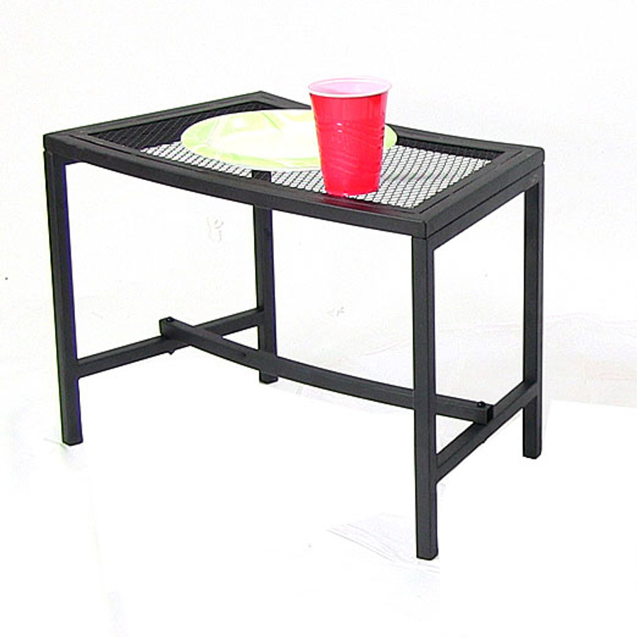 Black Mesh Patio Side Table