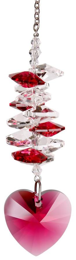 Crystal Heart Cascade Rainbow Maker - Passion