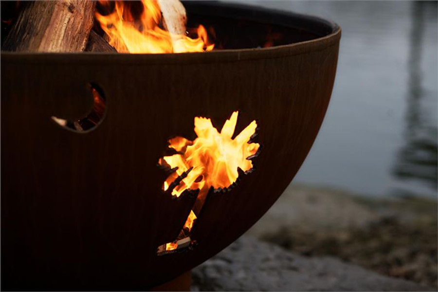 Tropical Moon Fire Pit by Fire Pit Art