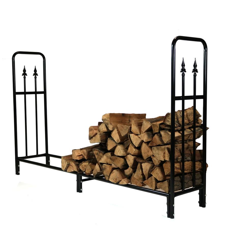 6' Log Rack with Firewood
