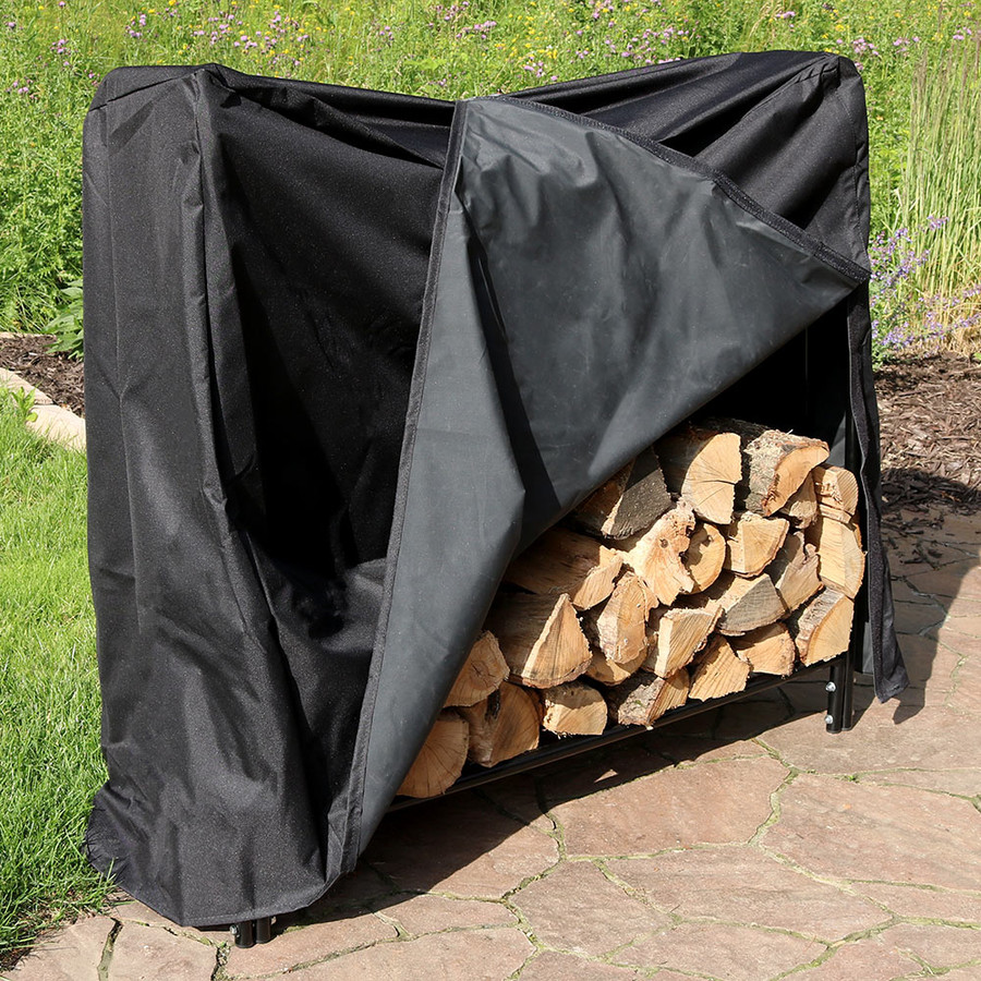 4' Log Rack With Cover