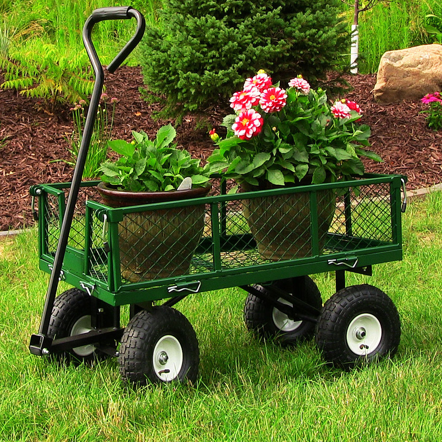 Green Garden Cart Outdoors