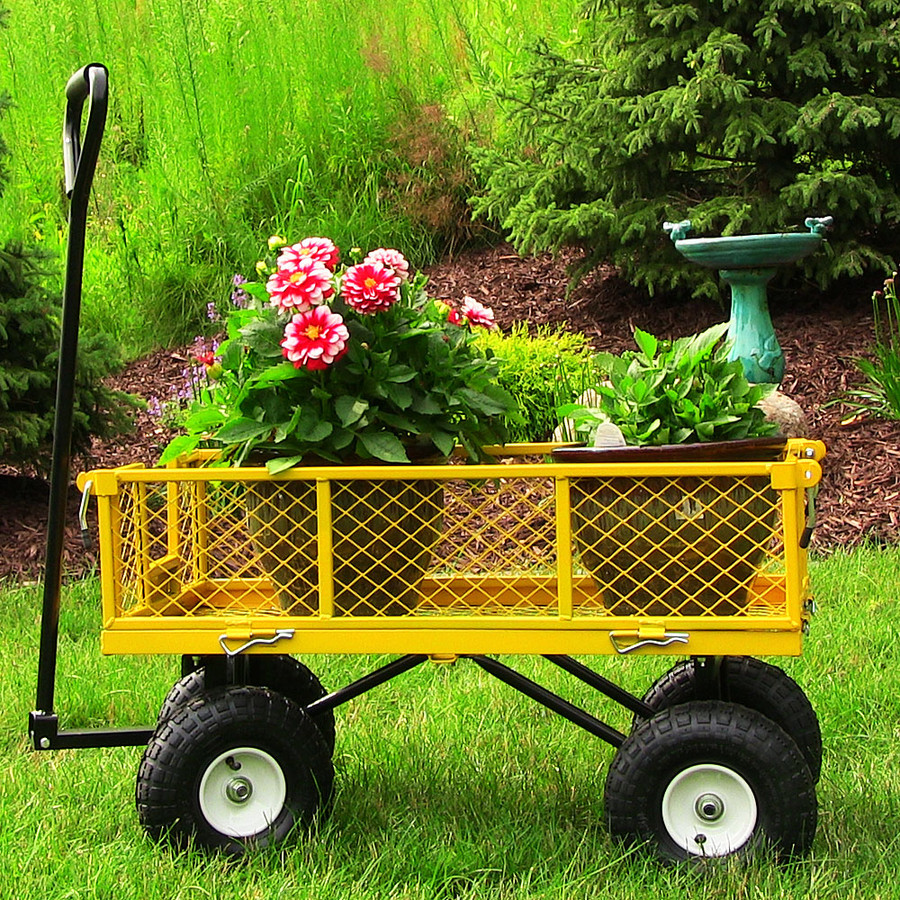 Yellow Garden Cart Outdoors