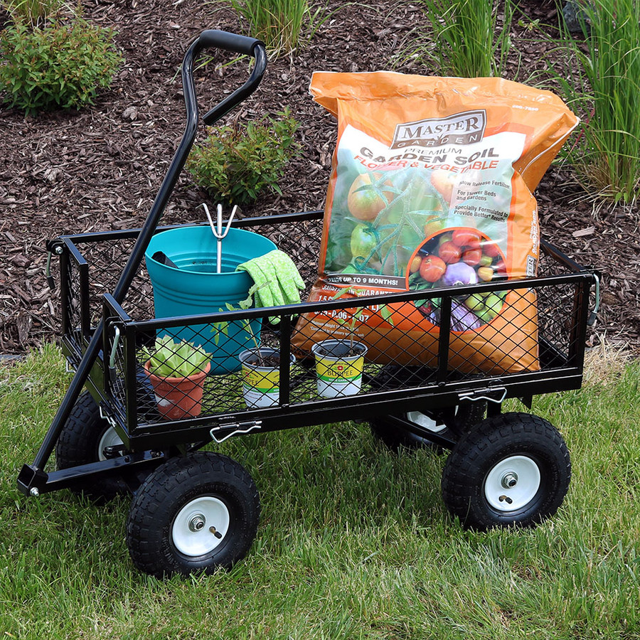 Black Garden Cart Outdoors